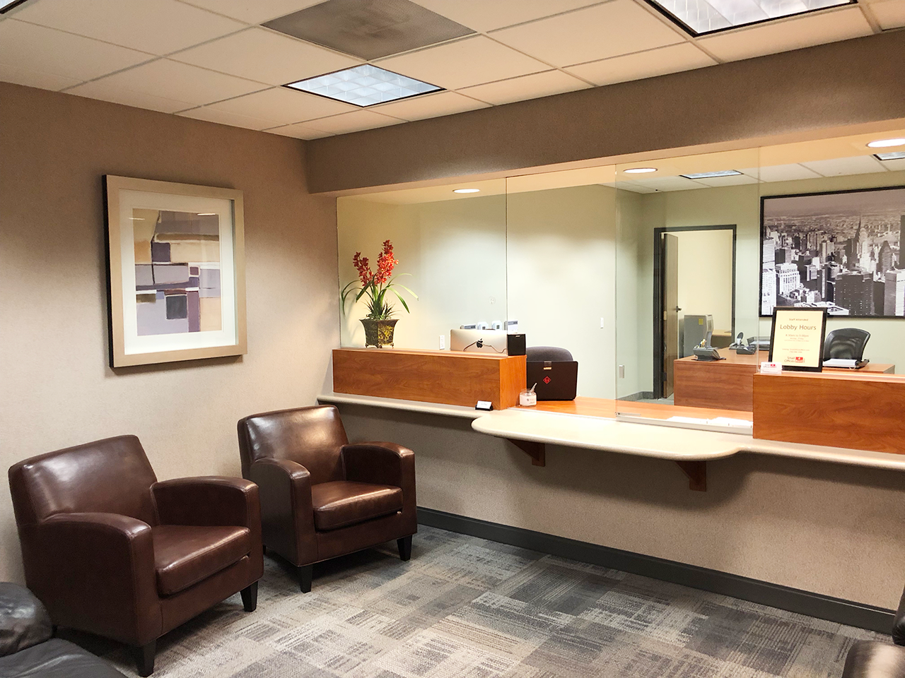 Visa Full Service Executive Suites main lobby